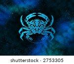Cancer Zodiac Sign On Nebula...