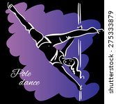 pole dancer with long hair... | Shutterstock .eps vector #275333879