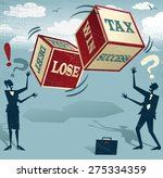 abstract business people take... | Shutterstock .eps vector #275334359