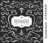 vintage decorative curls and... | Shutterstock .eps vector #275334959