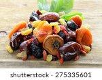 assorted dried fruits  raisins  ... | Shutterstock . vector #275335601
