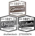 100  authentic genuine original ... | Shutterstock .eps vector #275335874