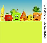 colorful healthy fruit... | Shutterstock .eps vector #275336174