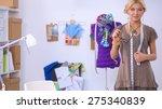 modern young fashion designer... | Shutterstock . vector #275340839