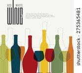 wine list design. vector... | Shutterstock .eps vector #275365481