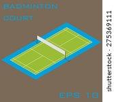 isometric badminton court | Shutterstock .eps vector #275369111
