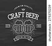 craft beer vintage stylized... | Shutterstock .eps vector #275370239
