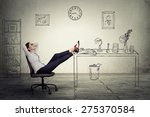 Stock photo young businesswoman relaxing sitting in the office 275370584