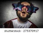 foolish  stupid man with... | Shutterstock . vector #275370917