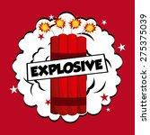 comic pop art design  vector...   Shutterstock .eps vector #275375039