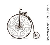 old bicycle in vector. vintage... | Shutterstock .eps vector #275384414