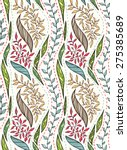 seamless pattern with branches  ...   Shutterstock .eps vector #275385689