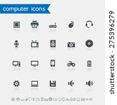 simple computer icons with... | Shutterstock .eps vector #275396279