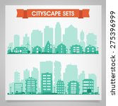 cityscape sets with various... | Shutterstock .eps vector #275396999