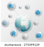 social media network connection ... | Shutterstock .eps vector #275399129