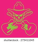 cowboy skull vector emblem with ... | Shutterstock .eps vector #275411045