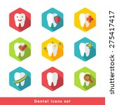vector illustration of dental... | Shutterstock .eps vector #275417417