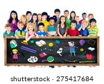 kids school education toys... | Shutterstock . vector #275417684