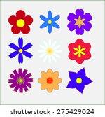 vector flowers  simple   Shutterstock .eps vector #275429024