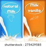 milk splashes  butter and... | Shutterstock .eps vector #275429585