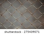 old metal fence background | Shutterstock . vector #275439071