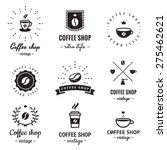 coffee shop logo vintage vector ... | Shutterstock .eps vector #275462621
