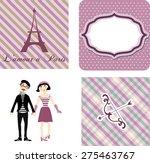 vintage label card set with...   Shutterstock .eps vector #275463767