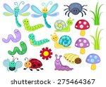 vector set of cute cartoon bugs | Shutterstock .eps vector #275464367