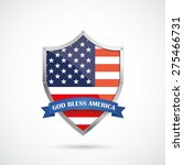 us flag protection shield on... | Shutterstock .eps vector #275466731