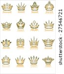 collection of golden crowns | Shutterstock .eps vector #27546721