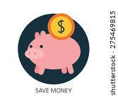 piggy bank flat icon concept  | Shutterstock .eps vector #275469815