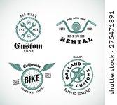 set of vector retro bicycle... | Shutterstock .eps vector #275471891