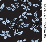 vector seamples pattern flower... | Shutterstock .eps vector #275478644