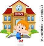 little boy  jumping for joy on... | Shutterstock .eps vector #275480135