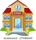 school building cartoon | Shutterstock . vector #275480345