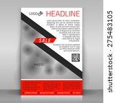business flyer design  poster...   Shutterstock .eps vector #275483105