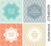 set of vintage frames in orange ... | Shutterstock .eps vector #275483339