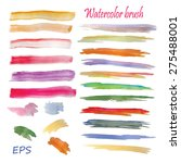 colorful vector watercolor... | Shutterstock .eps vector #275488001