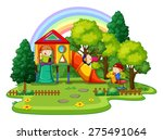 children playing in the... | Shutterstock .eps vector #275491064