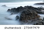 cliff  rock and stones in foggy ... | Shutterstock . vector #275497979
