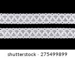 white ornamental lace isolated... | Shutterstock . vector #275499899
