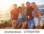group of friends standing by... | Shutterstock . vector #275504705
