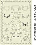 handmade ornaments | Shutterstock .eps vector #275507225