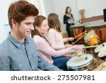 percussion lesson | Shutterstock . vector #275507981