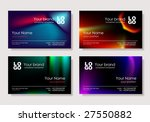Vector. Multicolor Business Card