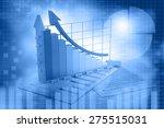 business growth chart ... | Shutterstock . vector #275515031