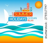 minimalist style summer design... | Shutterstock .eps vector #275517797