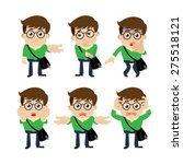 set of young man characters in... | Shutterstock .eps vector #275518121