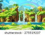 the end of the rainbow   scene... | Shutterstock . vector #275519237