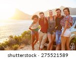 group of friends standing by... | Shutterstock . vector #275521589